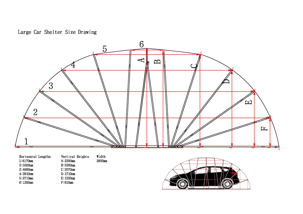 Car Types Of Shelters : Ikuby carport car shelter large size for suv b c class